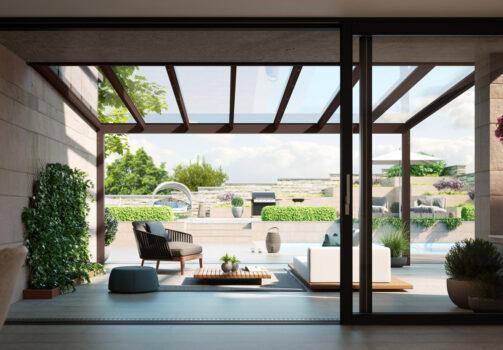 Allwetterschutz Glasdachsystem Nyon / Nyon Plus